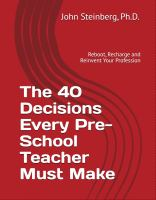 The 40 decisions every pre-school teacher must make